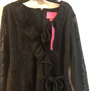 New Lilly Pulitzer black lace romper